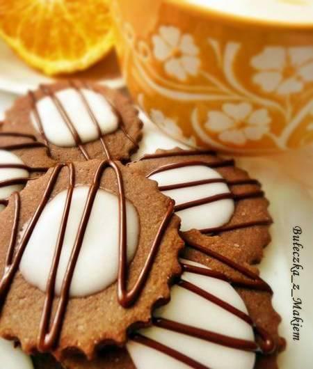 Ciasteczka kakaowo – pomarańczowe
