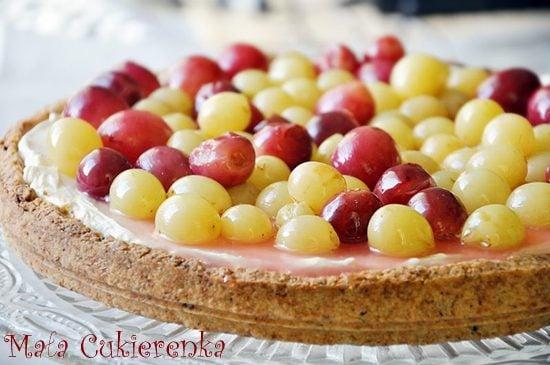 Tarta z winogronami i mascarpone