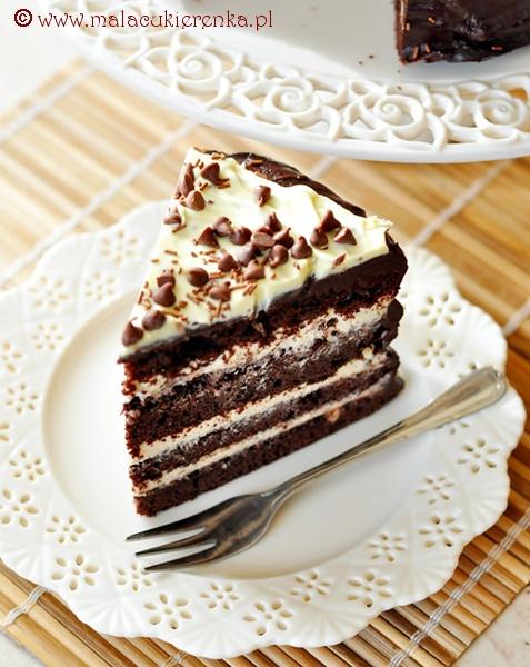 Czekoladowy tort z mascarpone i likierem kawowym