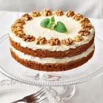 Angielskie ciasto z orzechami i kawą