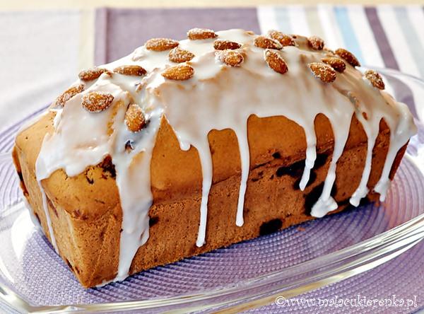 Ciasto migdałowe z batonikami Bounty