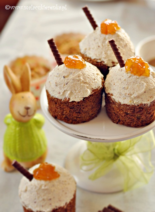 Muffiny pomarańczowe z marchewką