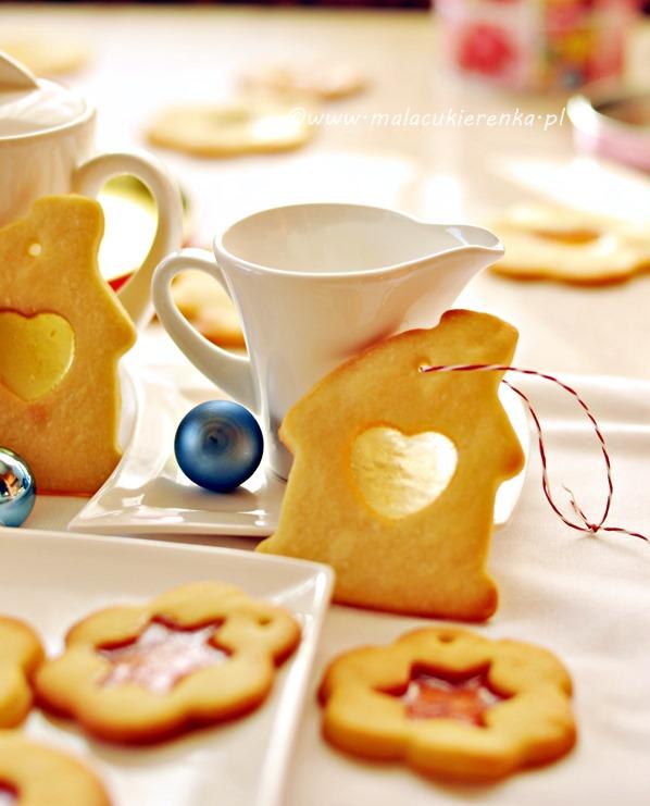 ciasteczka z witrazem