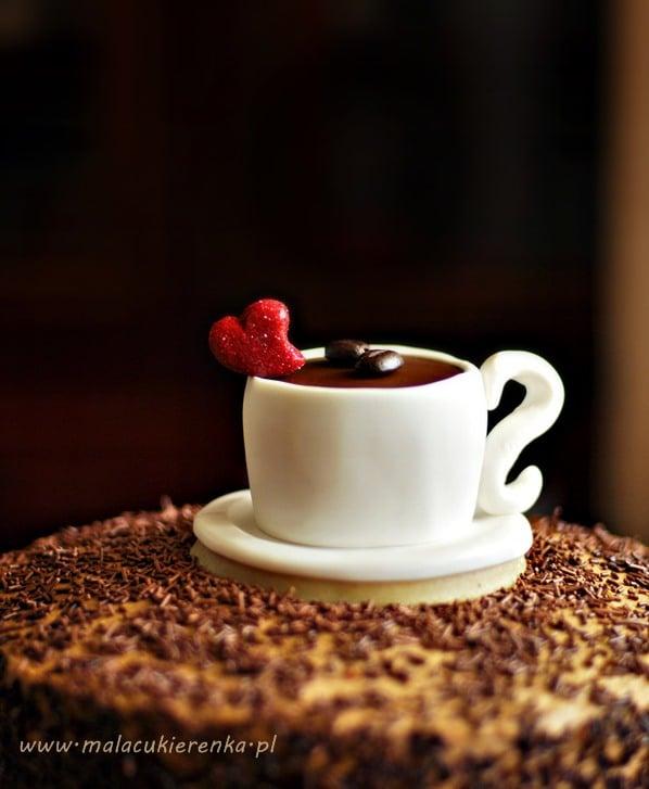 babeczka kawa z lukru