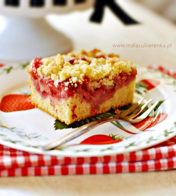 ciasto z owocami i kruszonka