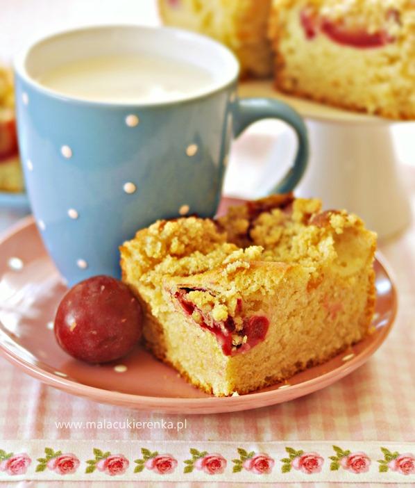 ciasto drozdzowe z owocami i kruszonka2
