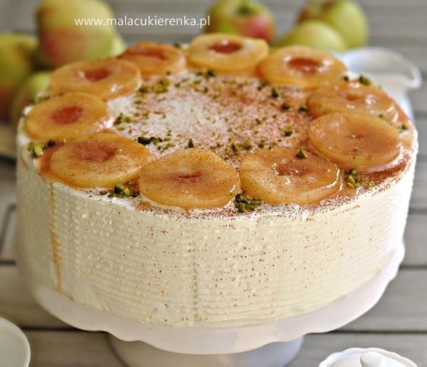 lekki tort jabłkowy