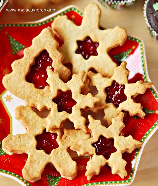 Kruche ciasteczka z dżemem dla Mikołaja