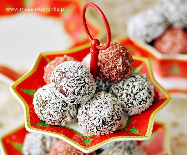 kuleczki ciasteczkowe z kokosem