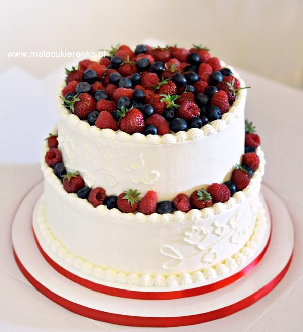 Tort Truskawkowy Z Białą Czekoladą