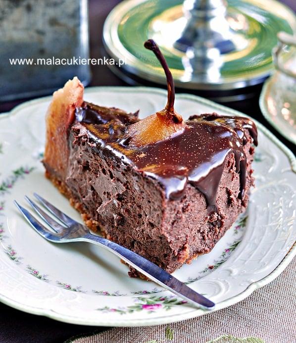 sernik-czekoladowy-z-gruszkami5