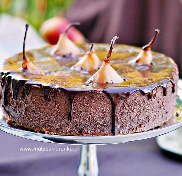 sernik-czekoladowy-z-gruszkami6