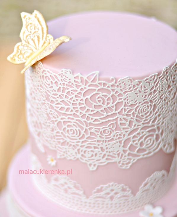 Tort Koronkowy – cukrowe koronki do tortów – Sugar Lace