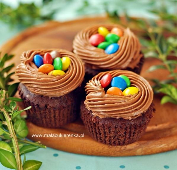 Babeczki brownies z Nutellą