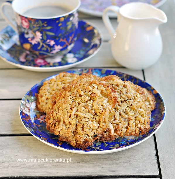 Ciasteczka owsiane z otrębami bez mąki