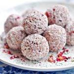 Trufle kokosowo – różane, wegańskie, bez glutenu