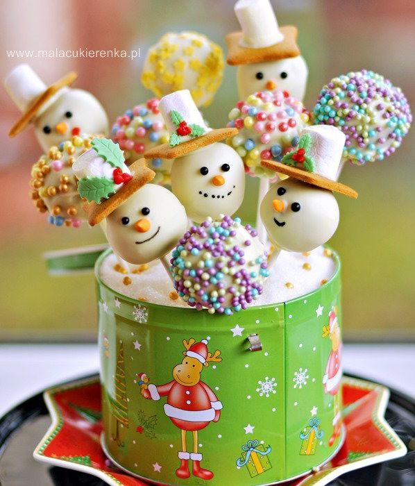 """Cake pops – ciastka na patyku """"BAŁWANKI"""""""