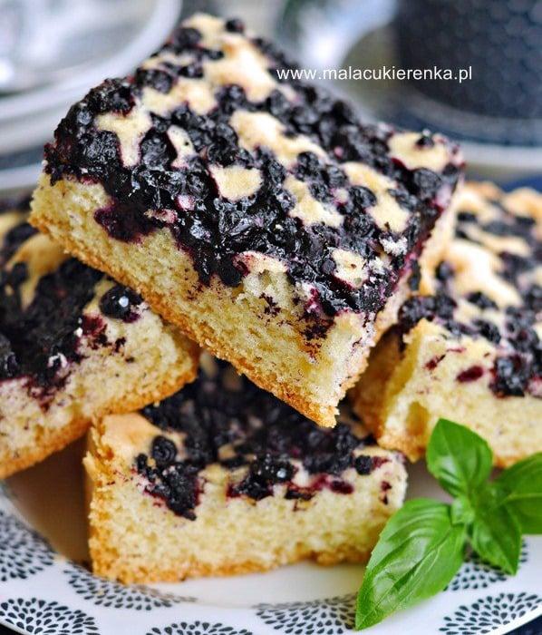 Ciasto z jagodami na oleju