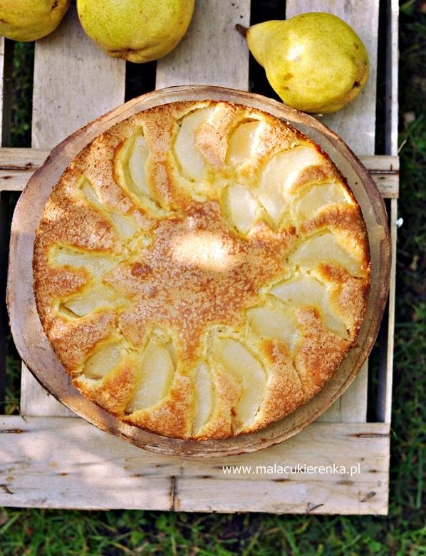 Ciasto z gruszkami i serkiem
