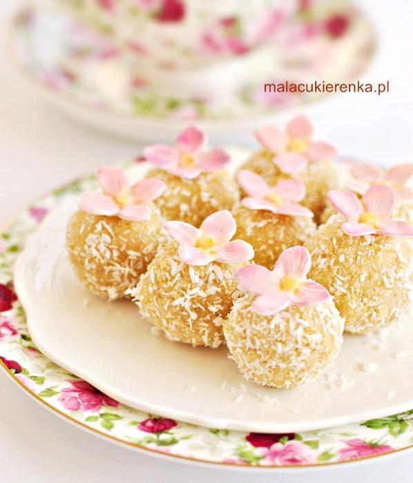 Ciasteczka bez pieczenia cytrynowe z kokosem, wegańskie, bez glutenu