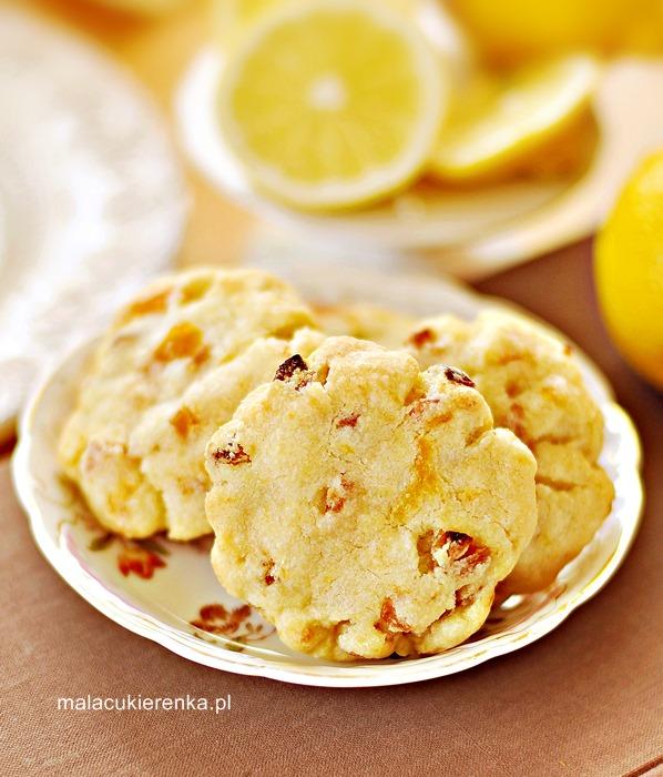 Ciasteczka cytrynowe z morelami