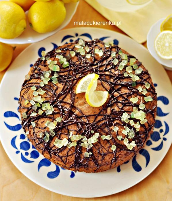 Ciasto czekoladowo – cytrynowe