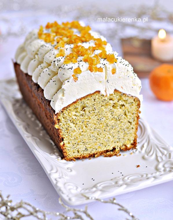 Ciasto mandarynkowe z makiem
