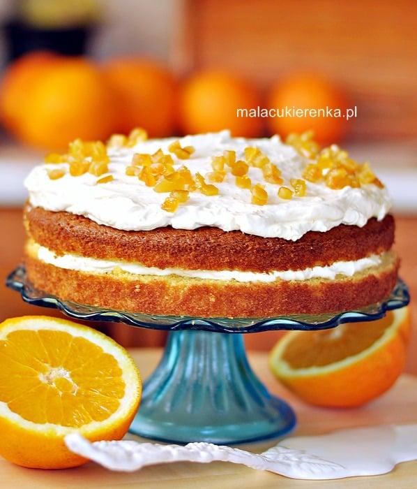 Ciasto pomarańczowe z lekkim kremem