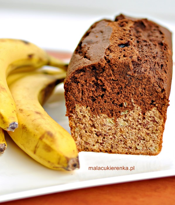 Ciasto z bananami dwukolorowe