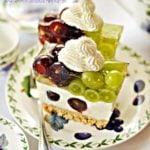 Ciasto z winogronami i galaretką bez pieczenia