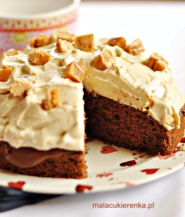 Ciasto czekoladowe z kremem karmelowym