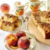 Ciasto z brzoskwiniami i orzechami