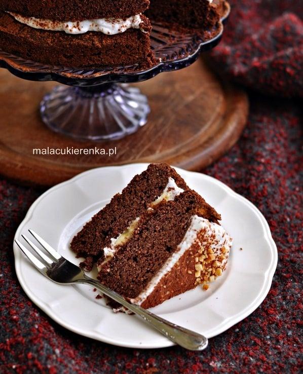 Torcik czekoladowy wegański, bez glutenu, bez cukru