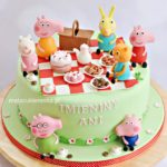 Tort ze Świnką Peppa i przyjaciółmi