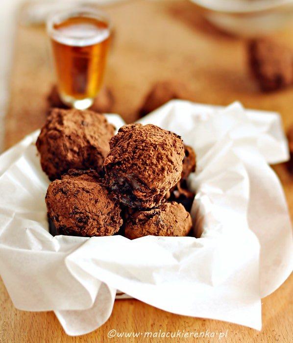 Trufle czekoladowe z likierem