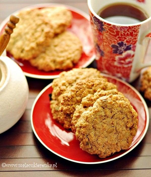 Chrupiące ciasteczka owsiane