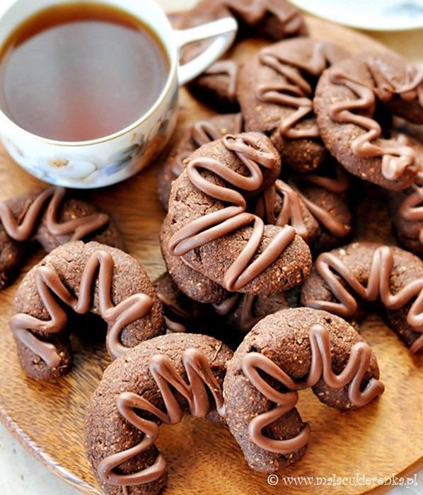Ciasteczka orzechowe rożki