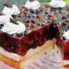 Ciasto z owocami i budyniem