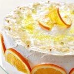 Pomarańczowy tort z kremem maślankowym