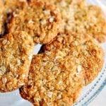 Ciasteczka owsiano – kokosowe z miodem – ANZAC