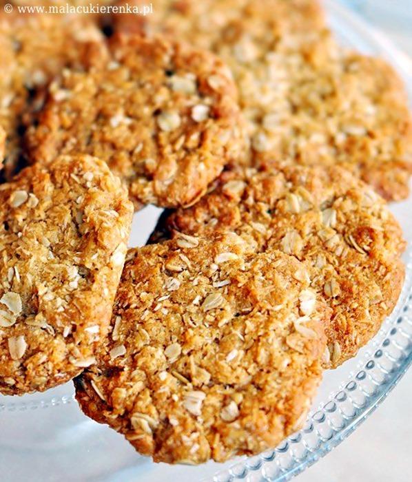 Ciasteczka owsiano - kokosowe z miodem – ANZAC