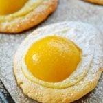 Ciasteczka – jajeczka z brzoskwiniami i budyniem