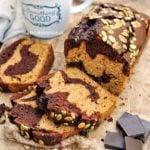 Ciasto dyniowe z czekoladą dwukolorowe
