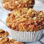 Muffinki migdałowo – orzechowe z pełnej mąki
