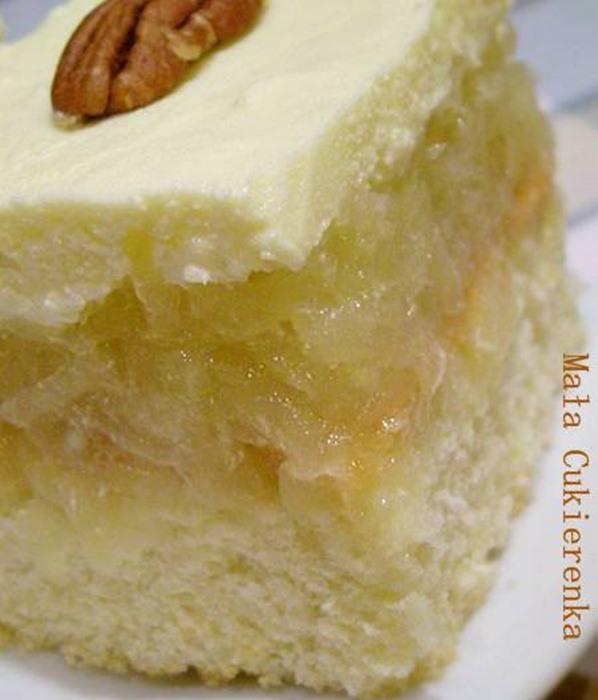 Ciasto z jabłkami i kremem budyniowym