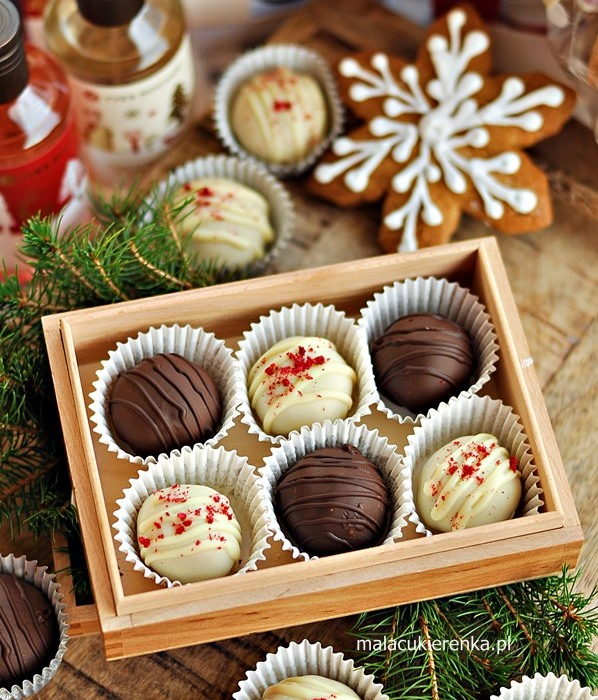 Karmelowe czekoladki z orzechami