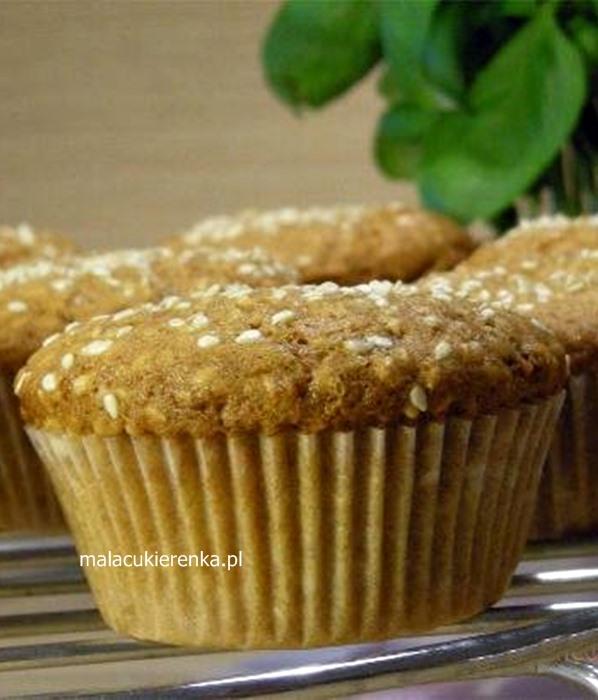 Muffinki sezamowe