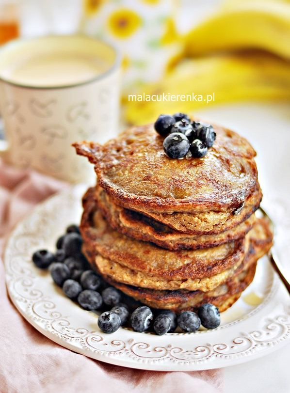 Pancakes wegańskie z bananami, bez cukru, bez glutenu