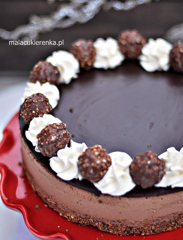 Tort Ferrero Rocher z Nutellą Bez Pieczenia