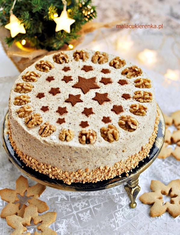 Tort makowo – orzechowy bez laktozy